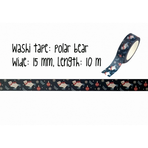 Christmas washi tape | Polar bear