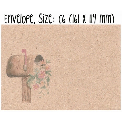 Envelope #020: post box illustration