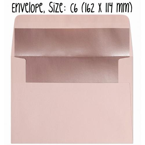 Envelope #004: pink, metallic inside