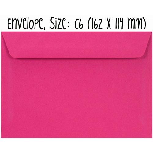 Envelope #008: bright pink