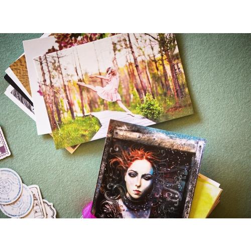 100 random postcards