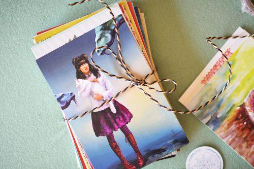 50 random postcards