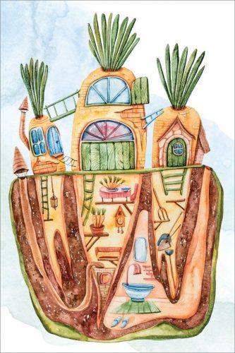 Postcard  Set of 10 Postcards: Magic Houses