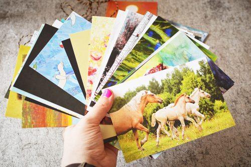 15 random postcards