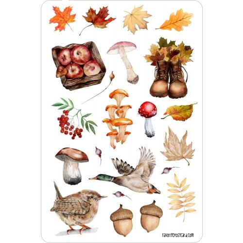 Sticker sheet #034: autumn