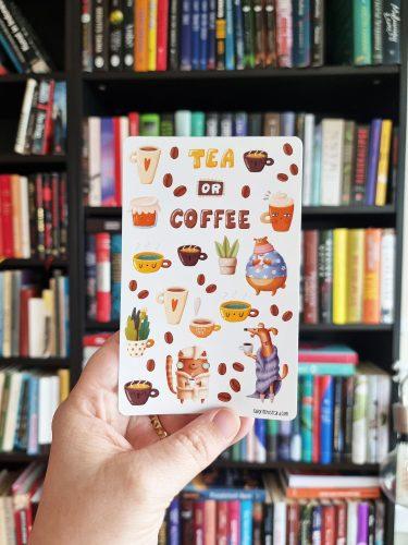 Sticker sheet #029: Tea or coffee?