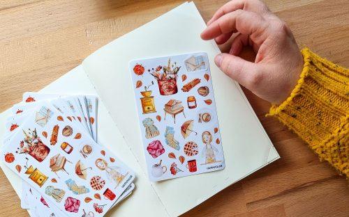 Sticker sheet #033: cozy autumn