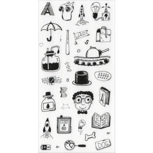 Sticker sheet #023: Cute Black & White pictures