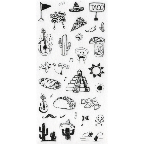 Sticker sheet #024: Cute Black & White pictures