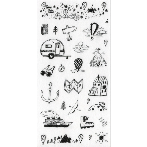 Sticker sheet #025: Cute Black & White pictures