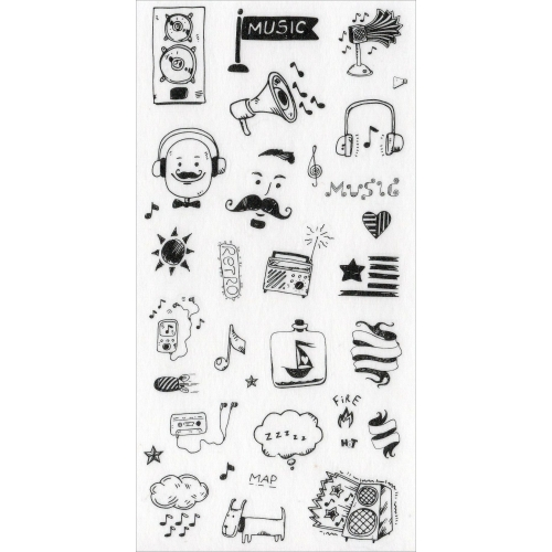 Sticker sheet #026: Cute Black & White pictures