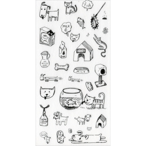 Sticker sheet #027: Cute Black & white pictures