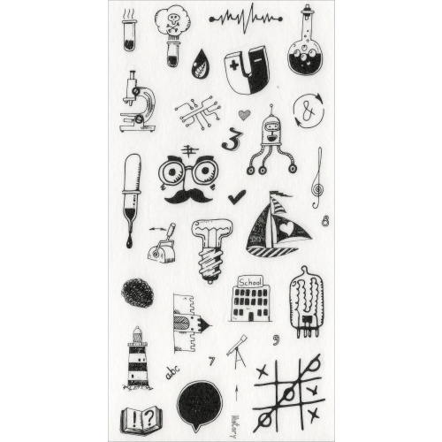 Sticker sheet #028: Cute Black & White pictures