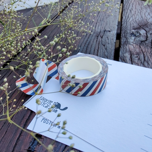 Washi tape #012: air mail postage