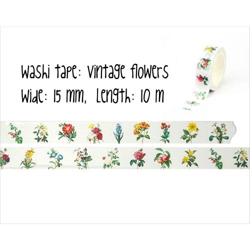 Washi tape #019: vintage flowers