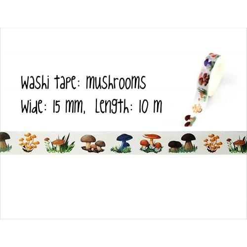 Washi tape #021: mushrooms