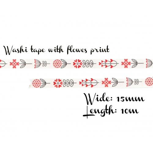 Washi tape #020: Etno Flowers