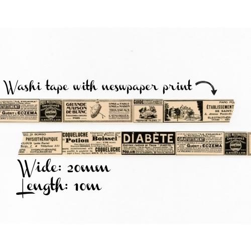 Washi tape #023: Newspaper